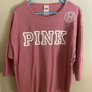 PINK Victoria's Secret Elbow Length Sleeve Top